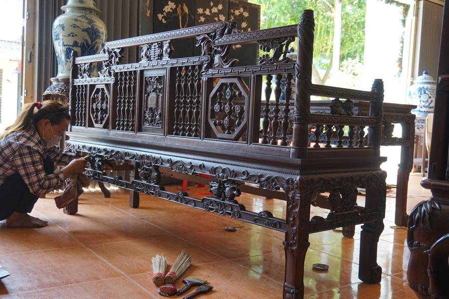 Điểm Danh Mẫu Bàn Ghế Gỗ Cổ Lối Xưa Đẹp Tại Nam Định