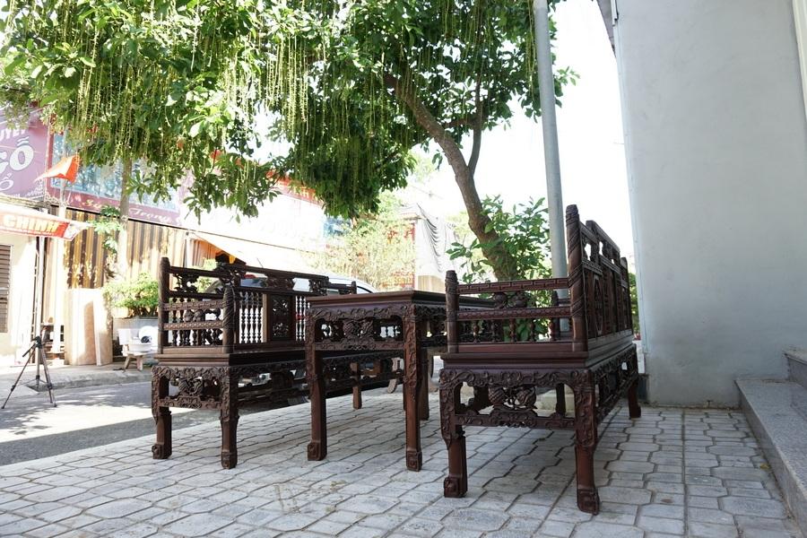 Bộ bàn ghế gỗ phòng khách Bắc Giang: Chất lượng