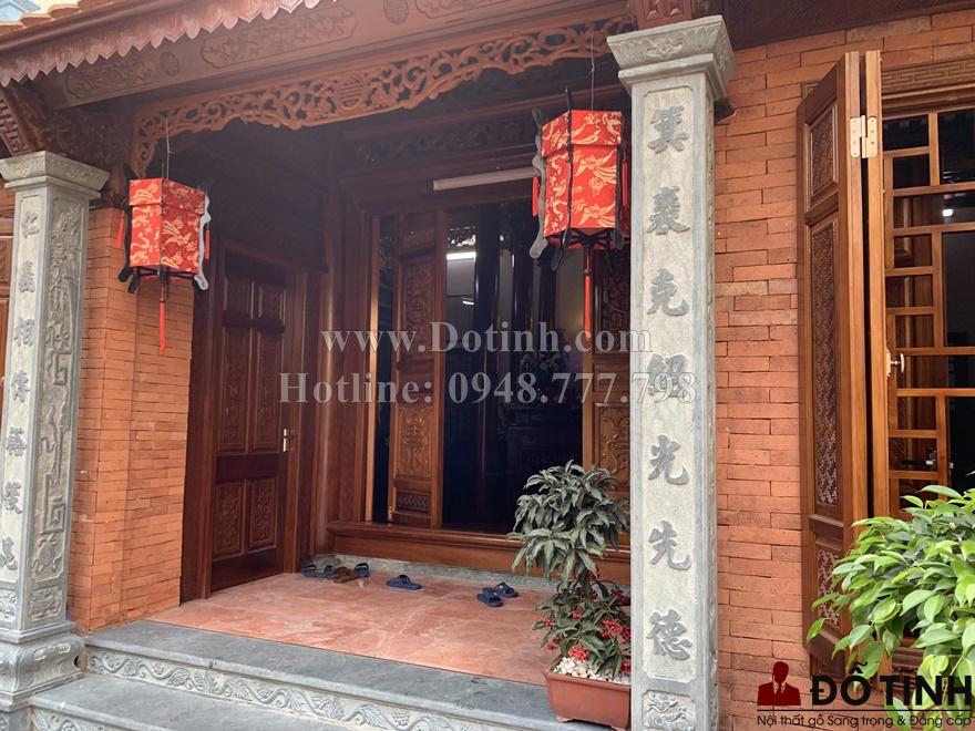 Bàn giao bộ sập gụ tủ chè cho nhà anh Tuấn tại Hà Nội (Ảnh: Dotinh.com)