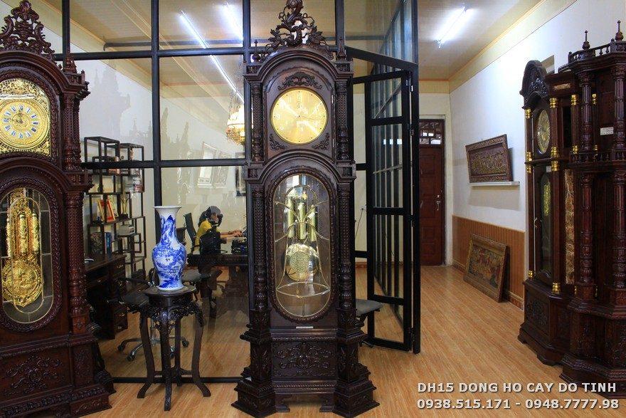 DH15: Đồng hồ cây Đức gỗ trắc quý hiếm (Ảnh: Dotinh.com)