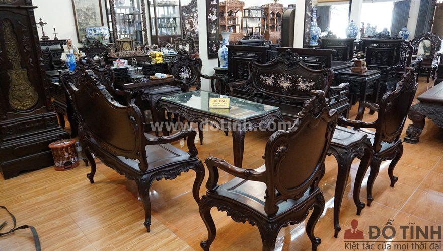 M3: Bộ bàn ghế louis Pháp khảm ốc siêu đẹp (Ảnh: Dotinh.com)