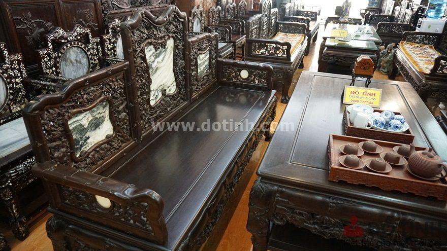 Bộ ghế trường kỷ gỗ gụ hiểu cơ bản như thế nào? (Ảnh: Dotinh.com)