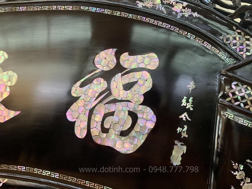 Khảm chữ rất đẹp - Ảnh: Dotinh.com