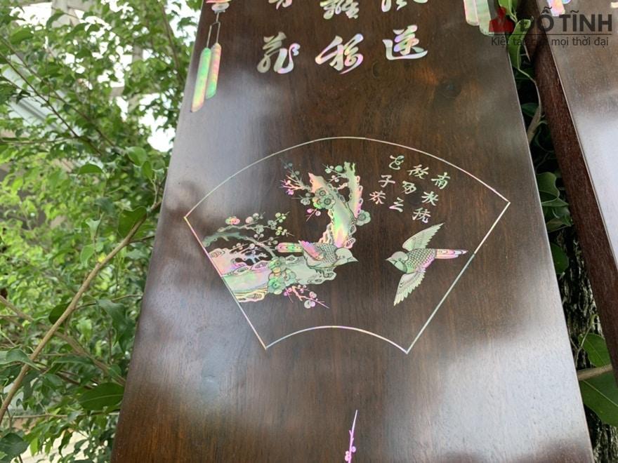 Tất cả đều được làm từ gỗ gụ 100% - Ảnh: Dotinh.com