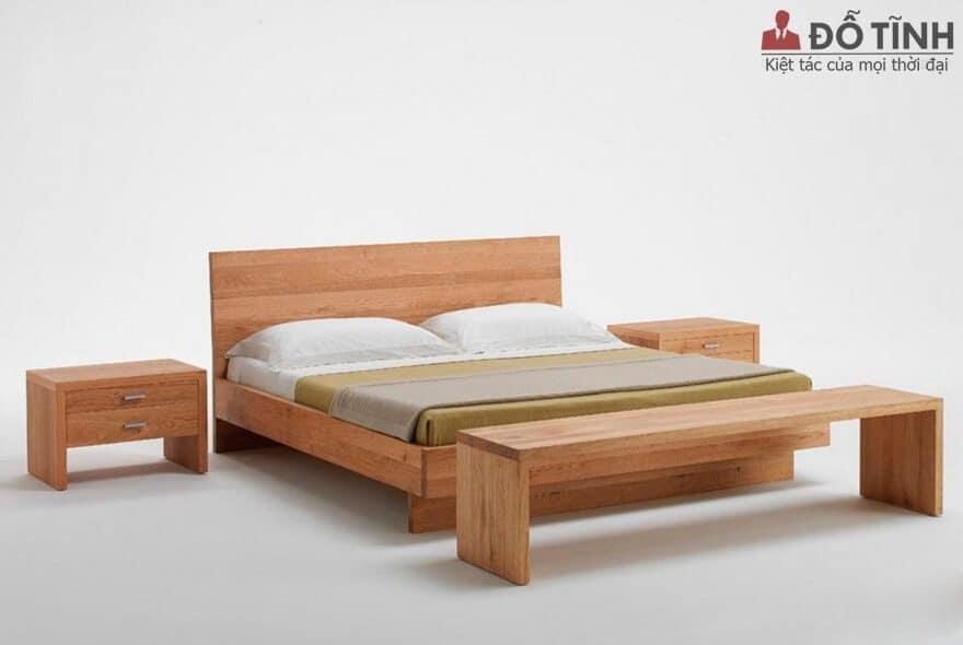 Giường gỗ cao su - Ảnh: Internet