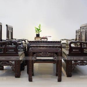 Bộ Trường Kỷ Cổ Đồ Đại Khảm Ốc gồm 6 món: 1 trường, 1 bàn, 2 ghế và 2 đôn - Ảnh:dotinh.com