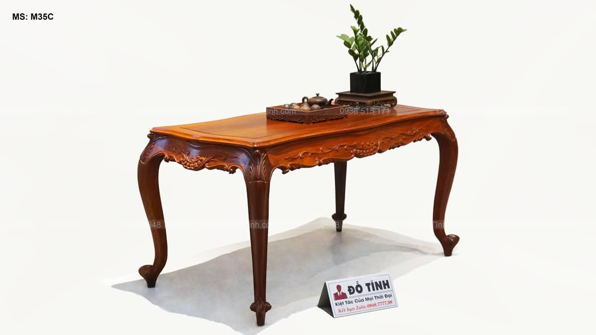 Bộ bàn ghế Louis hoàng gia gỗ hương Lào - 8 món
