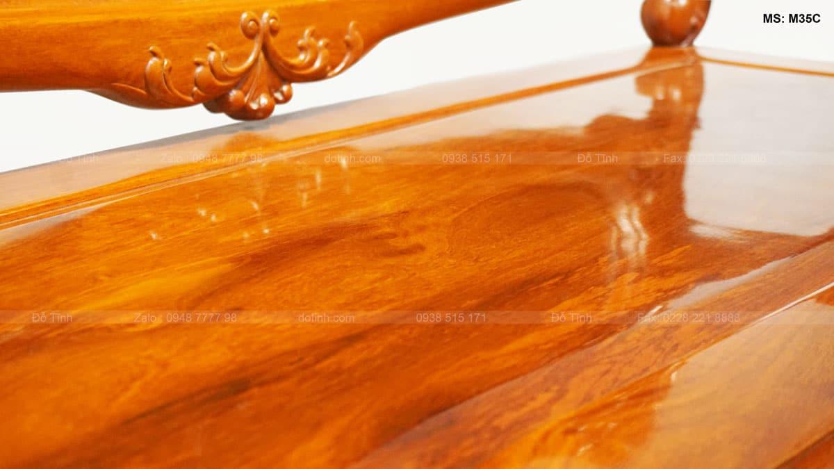 Bộ bàn ghế Louis hoàng gia gỗ hương Lào - Mặt ghế đoản