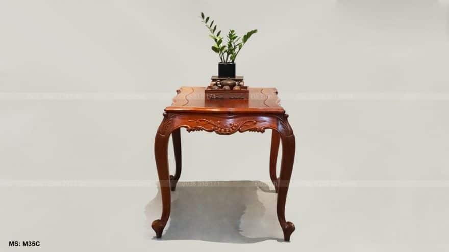 Bộ bàn ghế Louis hoàng gia gỗ hương Lào - chân ghế