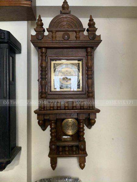 đồng hồ quả lắc treo tường gỗ sồi