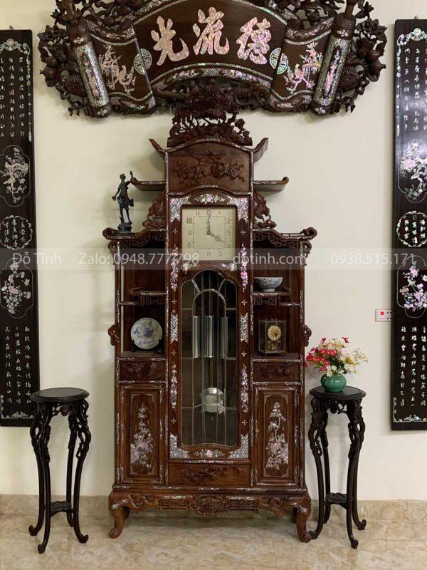 đồng hồ tủ chùa khảm ốc